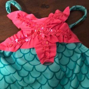7105b09230418 Swim | Love U Lots Mermaid Girls Ruffled Suit Size 3t | Poshmark